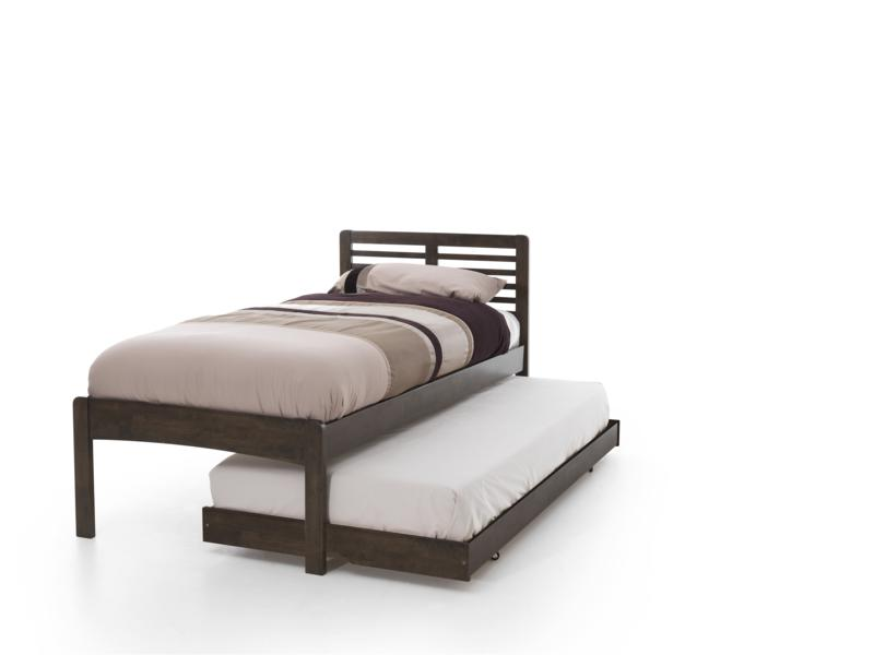 Serene Esther Walnut Wooden Guest Bed